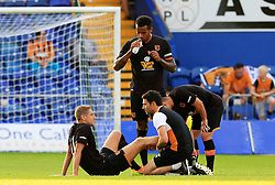 Michael Dawson of Hull City receives treatment for an injury - Mandatory by-line: Matt McNulty/JMP - 19/07/2016 - FOOTBALL - One Call Stadium - Mansfield, England - Mansfield Town v Hull City - Pre-season friendly