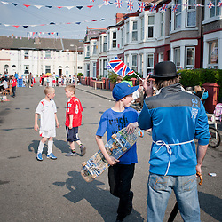Bunting, games, lots to enjoy.