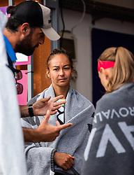 PORTOROZ, SLOVENIA - SEPTEMBER 18: Lesley Pattinama Kerkhove of Netherlands during the double finals of WTA 250 Zavarovalnica Sava Portoroz at SRC Marina, on September 19, 2021 in Portoroz / Portorose, Slovenia. Photo by Nik Moder / Sportida