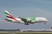 A6-EEZ Emirates Airways Airbus A380-800 at Malpensa (MXP / LIMC), Milan, Italy