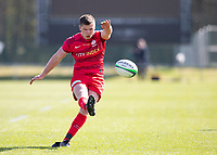 Rugby Union - 2020 / 2021 IPA Greene King Championship - Doncaster Knights vs Saracens - Castle Park, Doncaster.<br /> <br /> Owen Farrell of Saracens kicks a conversion to make it 22-3<br /> <br /> Credit : COLORSPORT/BRUCE WHITE