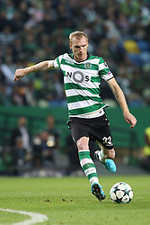 November 22, 2017 - Lisbon, Portugal - Sporting's defender Jeremy Mathieu from France in action during the UEFA Champions League group D football match Sporting CP vs Olympiacos FC at Alvalade stadium in Lisbon, Portugal on November 22, 2017. Photo: Pedro Fiuza  (Credit Image: © Pedro Fiuza/NurPhoto via ZUMA Press)