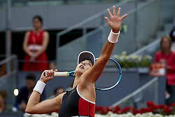 May 9, 2018 - Madrid, Madrid, Spain - Garbine Muguruza of Spain serves in her match against Daria Kasatkina of Russia during day five of the Mutua Madrid Open tennis tournament at the Caja Magica on May 9, 2018 in Madrid, Spain  (Credit Image: © David Aliaga/NurPhoto via ZUMA Press)