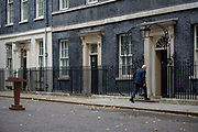 Prime Minister Boris Johnson walks back after making a statement announcing the start of the Conservative and Unionist partys general election campaign in 10 Downing Street in London, United Kingdom on 6th November, 2019. This follows his meeting with the Queen to request the dissolution of Parliament, British voters go to the polls on December 12, 2019.