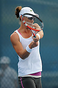 Brisbane, Australia, December 30: Sam Stosur of Australia plays a backhand shot during a training session on Show Court 5 at Pat Rafter Arena ahead of the 2012 Brisbane International Tennis Tournament in Brisbane, Australia on Friday December 30th, 2011. (Photo: Matt Roberts/Photo News)