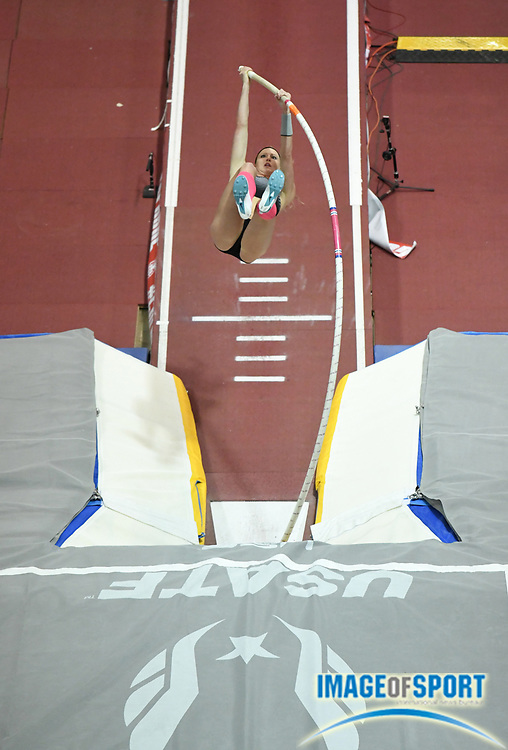 Mar 5, 2017; Albuquerque, NM, USA; Sandi Morris wins the women's pole vault at 15-5 (4.70m) during the USA Indoor Championships at the Albuquerque Convention Center.