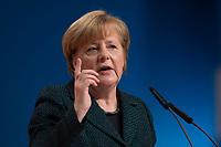 09 DEC 2014, KOELN/GERMANY:<br /> Angela Merkel, CDU, Bundeskanzlerin, haelt ihre Rede als Parteivorsitzende der CDU, CDU Bundesparteitag, Messe Koeln<br /> IMAGE: 20141209-01-020<br /> KEYWORDS: Party Congress