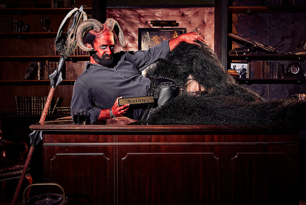 Matt Servitto as Satan on Your Pretty Face is Going to Hell on Adult Swim