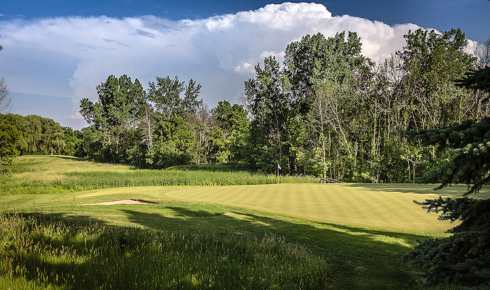 Sixth hole at Conway Farms Golf Course photographed in June 2015. ©Charles Cherney Photography