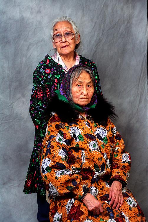 Alaska, Barrow. Portrait taken for souvenir during the mammogram clinic. 2001