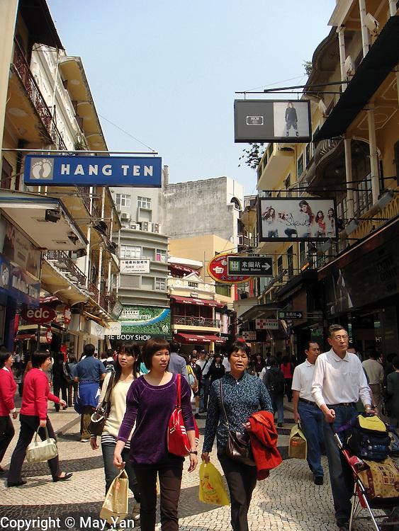 Shopping in Macau.