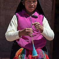 """According to """"Wikipedia"""" - Taquileños are known for their fine handwoven textiles and clothing, which are regarded as among the highest-quality handicrafts in Peru. Knitting is exclusively performed by males, starting at age eight. The women exclusively make yarn and weave."""