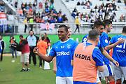 01/13/2018. Orlando, USA.  <br /> <br /> RANGERS FC v CORINTHIANS  2018 Florida Cup.  <br /> <br /> Alfredo Morelos of Rangers celebrates scoring during THE 2018 FLORIDA CUP match between RANGERS FC and CORINTHIANS.<br /> <br /> At  Spectrum Stadium, Orlando.<br /> Pic: Mark Davison /PLPA