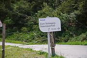 Austria, Zillertal High Alpine nature Park Hochgebirgs Naturpark Schlegeis dam near Ginzling, Tyrol