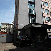 The office block housing  Novaya Gazeta newspaper in Moscow. Novaya Gazeta is one of the few remaining independent media outlets in Russia that dare to challenge the Kremlin, but it has paid a heavy price for its courage. Anna Politkovskaya, the newspaper's most prominent journalist, was gunned down in her apartment block in Moscow in 2006.   ..Picture by Justin Jin.
