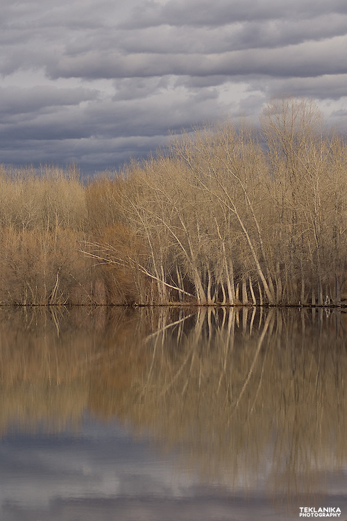 A storm rolls over Colorado's Chatfield Reservoir.