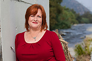 Shelly Backlar, former executive director of FoLAR and currently Vice President of Programs at Friends of the Los Angeles River. Raphael Sbarge films FoLAR documentary along banks of Los Angeles River, Glendale Narrows, Los Angeles, California, USA