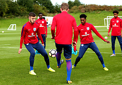 Jaden Brown and Ben Brereton take part in training with England Under 19s ahead of the International Friendlies against Poland and Germany - Mandatory by-line: Robbie Stephenson/JMP - 31/08/2017 - FOOTBALL - England U19 - Training session ahead of international friendlies against Poland and Germany