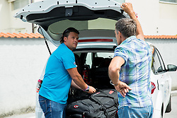 Peter Pen and Vlado Makuc at departure of Slovenian Men Ski Team to training camp in Argentina and Chile on August 21, 2014 in SZS, Ljubljana, Slovenia. Photo by Vid Ponikvar / Sportida.com