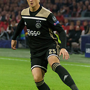 NLD/Amsterdam/20181023 - Champions Leaguewedstrijd  Ajax - SL Benfica, nr.25 Kasper Dolberg