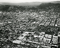 1960 Looking north from Melrose Ave., just east of Gower St. RKO Studios are in the foreground.