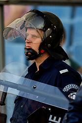 September 9, 2018 - Sofia, BULGARIA - 180909 A police officer ahead of the Nations League match between Bulgaria and Norway on September 9, 2018 in Sofia..Photo: Jon Olav Nesvold / BILDBYRN / kod JE / 160311 (Credit Image: © Jon Olav Nesvold/Bildbyran via ZUMA Press)