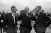 8/9/1964<br /> 9/8/1964<br /> 8 September 1964<br /> <br /> Mr Redmond Gallagher Chairman of Urney Chocolates, Mr Wolfgang Smit the Managing Dirictor of Van Houten and Zoon in Holland and Mr. T.A Headon the Managing Dirctor of Urney Choclate Dunlaoire, Chapelizode Church, Chemist, Square, Cotteges, Harbourmasters house, Milltown, April 1984.