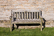 Wooden bench, Worcestershire, United Kingdom