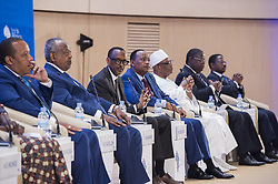KIGALI, May 11, 2017  Rwandan President Paul Kagame (3rd L) speaks during a panel discussion at the Transform Africa summit in Kigali, Rwanda on May 11, 2017. Rwandan President Paul Kagame expressed frustration with the slow pace at which African countries are adopting the one area network that seeks to reduce charges for international voice calls on Thursday during the Transform Africa summit. (Credit Image: © Xinhua via ZUMA Wire)