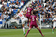 Ada Hegerberg to OL and Steph Houghton of Manchester during the UEFA Women's Champions League, semi final, 2nd leg football match between Olympique Lyonnais and Manchester City on April 29, 2018 at Groupama stadium in Décines-Charpieu near Lyon, France - Photo Romain Biard / Isports / ProSportsImages / DPPI