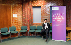 "© licensed to London News Pictures. Sheffield, UK  09/02/2012. Ed Miliband at Sheffield University shortly before he delivers a speech to students and visitors on the ""Sustainable Recovery"". Photo credit should read Joel Goodman/LNP"