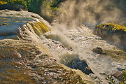 The Grass River as it plunges over at Pisew Falls<br />Pisew Falls Provincial Park<br />Manitoba<br />Canada