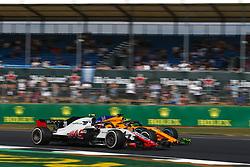 July 6, 2018 - Silverstone, Great Britain - Motorsports: FIA Formula One World Championship 2018, Grand Prix of Great Britain, ..#20 Kevin Magnussen (DEN, Haas F1 Team), #14 Fernando Alonso (ESP, McLaren F1 Team) (Credit Image: © Hoch Zwei via ZUMA Wire)