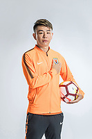 **EXCLUSIVE**Portrait of Chinese soccer player Cao Sheng of Shandong Luneng Taishan F.C. for the 2018 Chinese Football Association Super League, in Ji'nan city, east China's Shandong province, 24 February 2018.