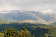 Turkey, Antalya, Koprulu River Canyon A rainbow