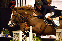 Rikstoto Grand Prix, Oslo Horse Show, Oslo Spektrum 19.10.02 <br />Saturday, October 19th 2002. GODSEND DU REVERDY<br />\ Thomas VELIN (DEN)<br /> <br />Foto: Geir Egil Skog, Digitalsport