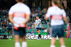 March 9, 2019 - Sydney, NSW, U.S. - SYDNEY, NSW - MARCH 09: Waratahs player Bernard Foley (10) lines up a kick for goal at round 4 of Super Rugby between NSW Waratahs and Queensland Reds on March 09, 2019 at The Sydney Cricket Ground, NSW. (Photo by Speed Media/Icon Sportswire) (Credit Image: © Speed Media/Icon SMI via ZUMA Press)