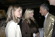 Donna Air, Petrina Khashoggi and Patrick Cox, Aperiatur Terra, Private View of work by  Anselm Kiefer<br />White Cube, Mason's Yard. - Afterwards dinner at the  NCP Brewer Street (Top<br />Floor)  London, 25 January 2007. -DO NOT ARCHIVE-© Copyright Photograph by Dafydd Jones. 248 Clapham Rd. London SW9 0PZ. Tel 0207 820 0771. www.dafjones.com.