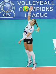 October 21, 2017 - Rzeszow, Poland - Adela Helic (Developres),  in action during CEV Volleyballl Champions League volleybal women match between Developres Rzeszow and Hapoel Kfar Saba on 21 October 2017 in Rzeszow, Poland. (Credit Image: © Foto Olimpik/NurPhoto via ZUMA Press)