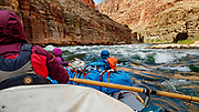 Whitewater on Day 11 of 16 days rafting 226 miles down the Colorado River in Grand Canyon National Park, Arizona, USA.