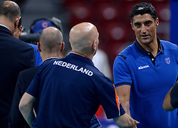 Coach Andrea Giani, Ron Zwerver during volleyball match between National teams of Netherlands and Slovenia in Playoff of 2015 CEV Volleyball European Championship - Men, on October 13, 2015 in Arena Armeec, Sofia, Bulgaria. Photo by Ronald Hoogendoorn / Sportida