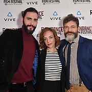 Dejan Bucin, Sara Lazzaro and Niccolo Cancellieri  actor attends the Raindance Film Festival - VR Awards, London, UK. 6 October 2018.