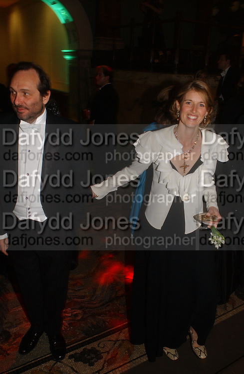 David and Arabella Macmillan. Belle Epoche gala fundraising dinner. National Gallery. 16 March 2006. ONE TIME USE ONLY - DO NOT ARCHIVE  © Copyright Photograph by Dafydd Jones 66 Stockwell Park Rd. London SW9 0DA Tel 020 7733 0108 www.dafjones.com