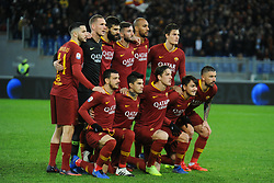 December 26, 2018 - Rome, Italy - AS Roma players line up before the Serie A match between  Roma and Sassuolo at Stadio Olimpico, Rome, Italy on 26 December 2018. (Credit Image: © Federica Roselli/NurPhoto via ZUMA Press)