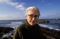 James Lovelock photographed near Bude, Cornwall, England. He is known as the father of the Gaia theory. 1991.