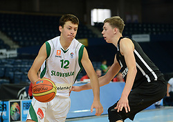 Nejc Zupan of Slovenia during basketball match between National teams of Slovenia and Germany in Division A of U16 Men European Championship Lithuania 2012, on July 20, 2012 in Panevezys, Lithuania. (Photo by Robertas Dackus / Sportida.com)