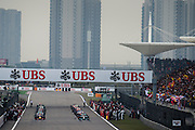 April 20, 2014 - Shanghai, China. UBS Chinese Formula One Grand Prix. Starting grid for the Chinese GP