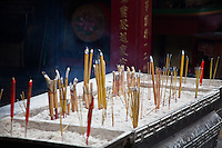 Incense burning at A-Ma Temple in Macau.