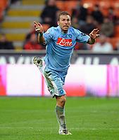 "Ugo Campagnaro (Napoli).<br /> Milano, 21/03/2010 Stadio ""Meazza""<br /> Milan-Napoli.<br /> Campionato Italiano Serie A 2009/2010<br /> Foto Nicolo' Zangirolami Insidefoto"