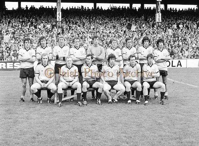 A group photograph of the Dublin team before the Kerry v Dublin All Ireland Senior Gaelic Football Final in Croke Park on the 24th of September 1978. Kerry 5-11 Dublin 0-9.